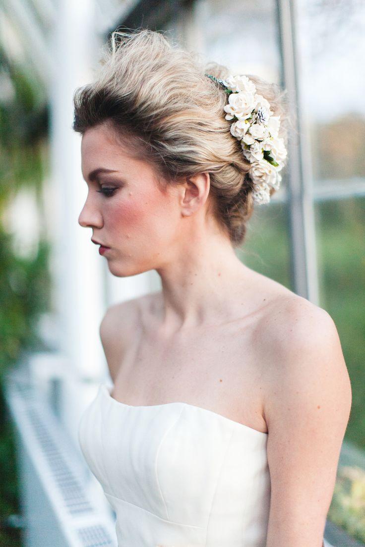 Ivory Floral Crown Headpiece