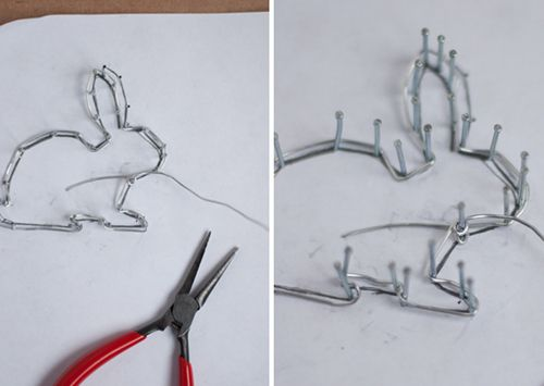 DIY Wire Geometric Bunnies. Oversize and Mini. Perfect for Easter!        Design Mom