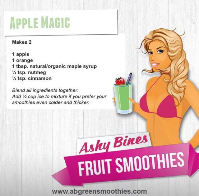 Ashy Bines Clean Eating - Apple Smoothie