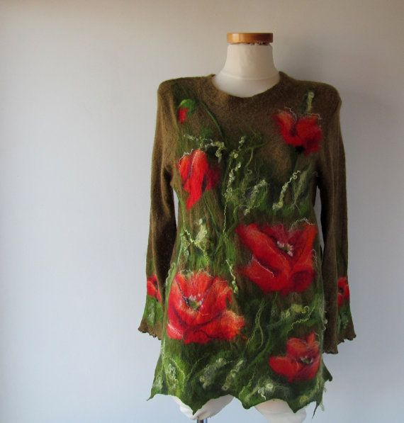 Hey, I found this really awesome Etsy listing at https://www.etsy.com/ru/listing/226720942/brown-tunic-jersey-sweater-felt-poppy