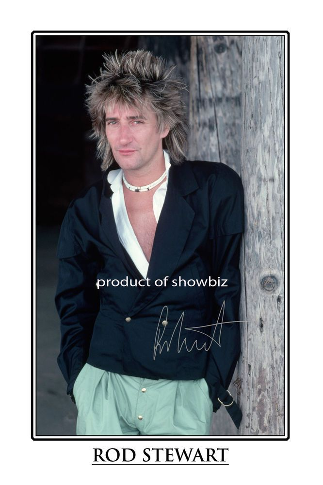 9f1a43a96c79 ROD STEWART - LARGE - AUTOGRAPH SIGNED POSTER PRINT PHOTO - LOOKS GREAT  FRAMED