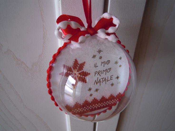 """pallina """"il mio primo Natale"""""""