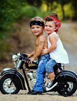Two of us just tooling along, on a Cool Rockabilly Day Yea!!