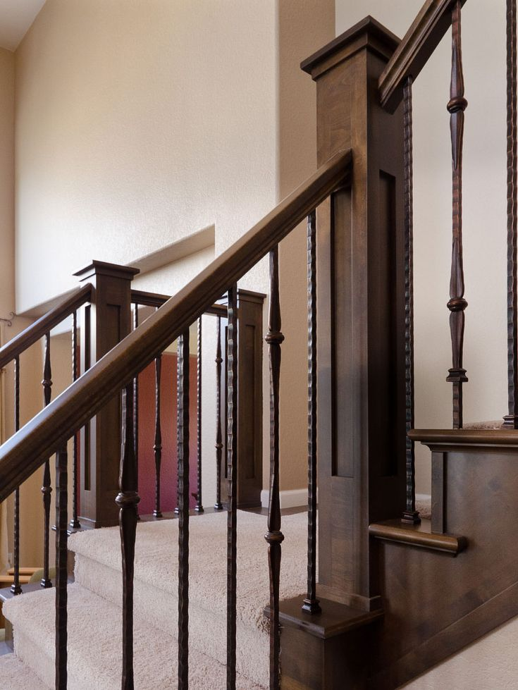 stairway wrought iron balusters | wrought iron balusters, custom newel posts, iron balusters, stair ...