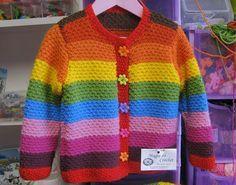 """Magia do Crochet: Casaco em tricot para menina - modelo da """"magia do crochet"""""""