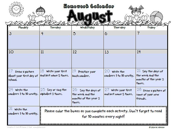 Best 25+ Homework calendar ideas on Pinterest Homework planner - sample school calendar