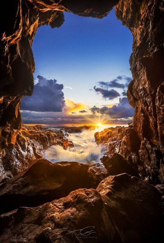 Sea Cave Sunset, Abalone Cove Shoreline Park, California