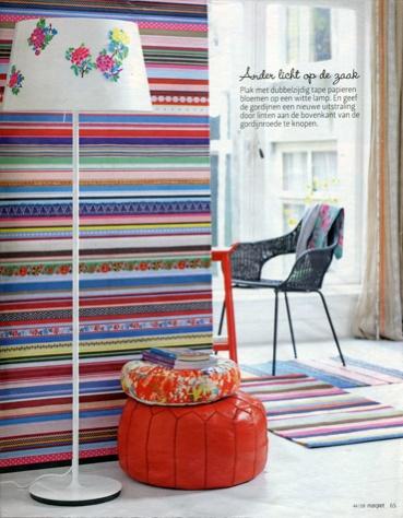 Studio Ditte Ribbon wallpaper, available at www.removablewallpaper.com.au