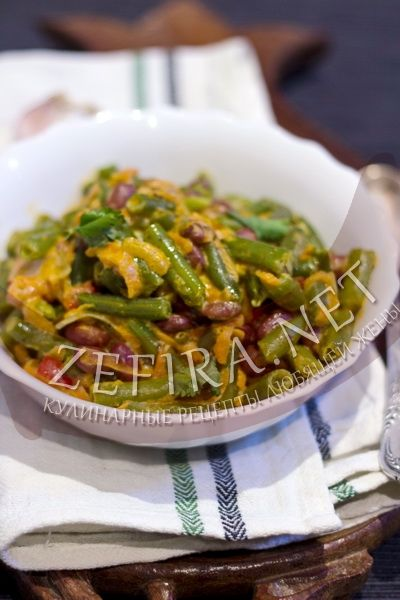 Стручковая фасоль в сметанном соусе - рецепт и фото