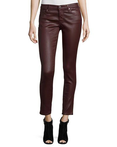Ag+Adriano+Goldschmied+Leatherette+Ankle+Leggings+Wine+|+Pants+and+Clothing