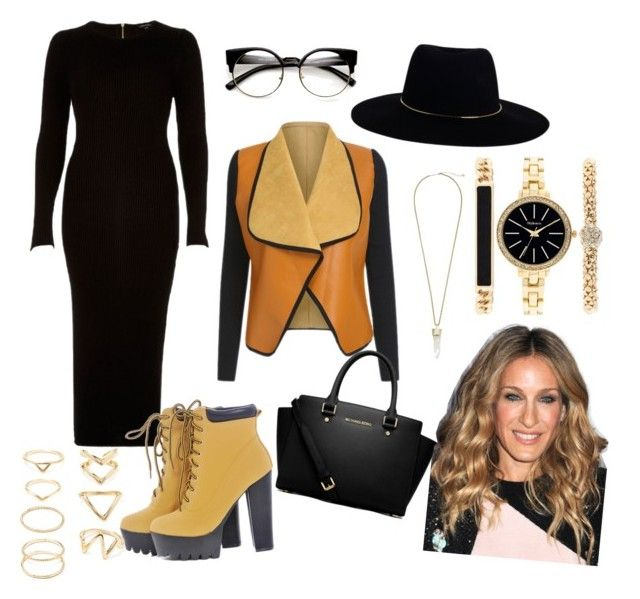 because is winter by lexabubu on Polyvore featuring polyvore fashion style River Island AX Paris MICHAEL Michael Kors Style & Co. Forever 21 Kendra Scott Zimmermann Sarah Jessica Parker clothing