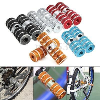 2 pcs New Black Aluminum Alloy Axle Foot Pegs Stunt BMX Bike Bicycle Cylinder