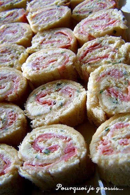 Roulés au chèvre, ciboulette & jambon ham and goat cheese, ya'll!