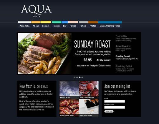 Best Restaurant Inspired Web Design Images On Pinterest