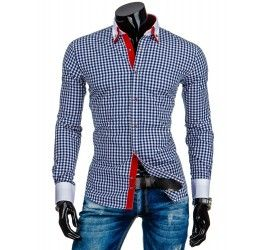 Pánská stylová košile - Castille, Rocher, bílá kostka | TAXIDO fashion
