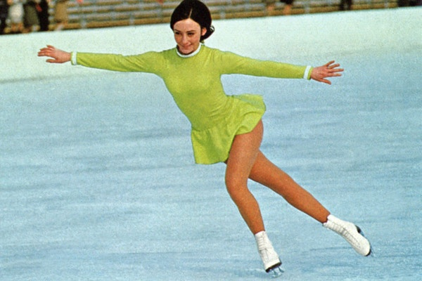 Peggy Fleming 19 years old Figure Skater at the Winter Olympics in 1968, Grenoble, France