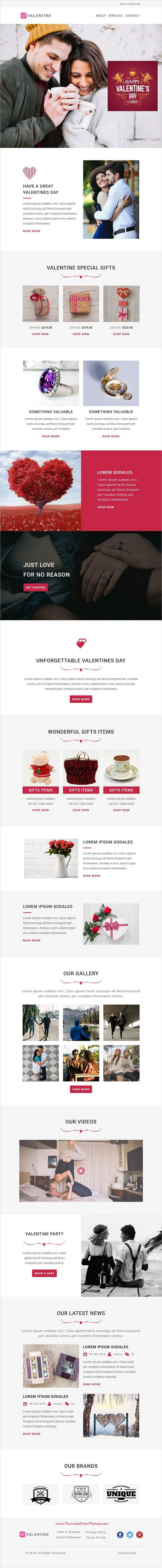 Event is clean and modern design responsive #email #newsletter #template for #valentinesday #gifts events conference viral #marketing with online stampready builder access to live preview & download click on image or Visit 👆