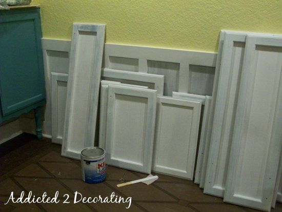 DIY - Turn Raised Panel Cabinet Doors Into Recessed Panel Doors on the cheap.  Single best way to update your kitchen for next to nothing.
