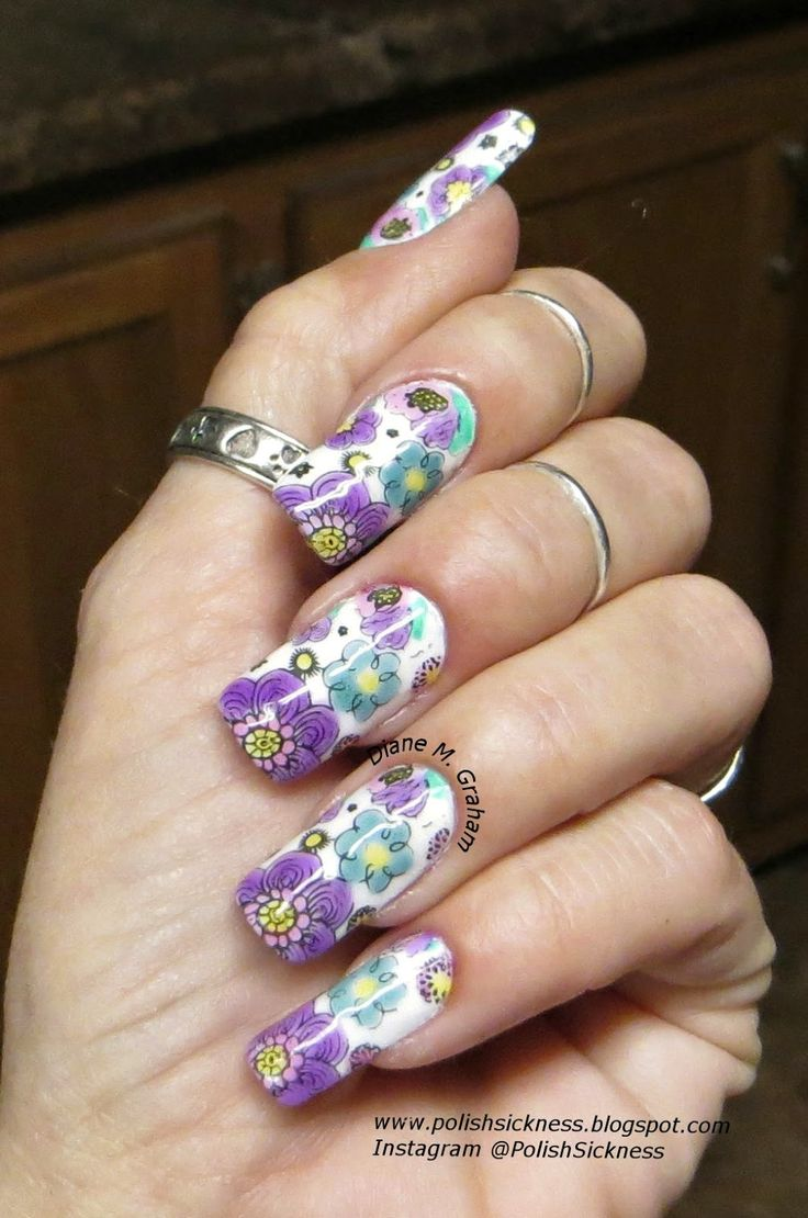 436 best floral nail designs images on pinterest nail art cool match your sassy sweet style with this fun and flirty floral nail art take out your nail kit and start painting your own masterpiece using the vital prinsesfo Choice Image