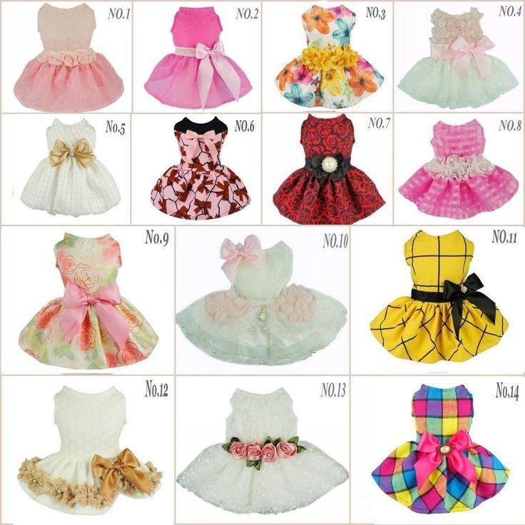Fitwarm Party Princess Dog Dress Wedding Pet Clothes Lace Tutu Dress Bow Apparel | Pet Supplies, Dog Supplies, Clothing & Shoes | eBay!