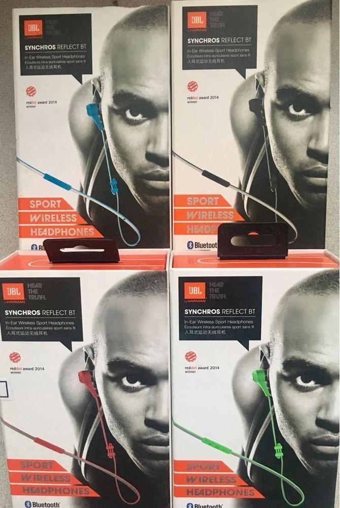 464e2a99002 Original JBL Synchros Reflect BT In-Ear Bluetooth Sport Headphones -  Black/Blue.