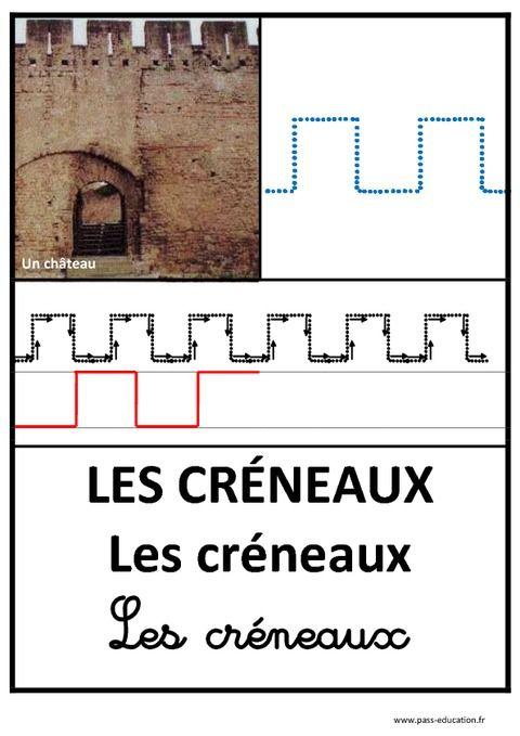 Créneaux - Graphisme – Affichages pour la classe – Maternelle – PS – MS – GS