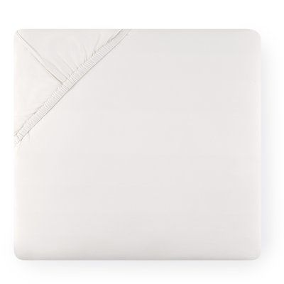 SFERRA Celeste Bottom Cotton Fitted Sheet Size: California King, Color: Silver Sage