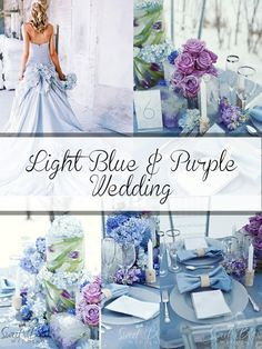 Ice blue with powder blue, light grey, lavender and silver wedding - Google Search