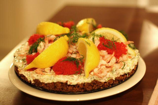 Salmon and shrimp cheesecake