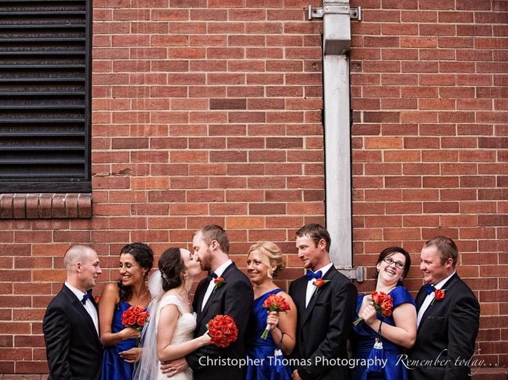 Brisbane Wedding Photographer - bridal party, Christopher Thomas Photography, Blue wedding theme