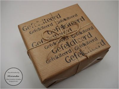 Miranda's Creaties: Cadeautje inpakken #4: Verjaardag