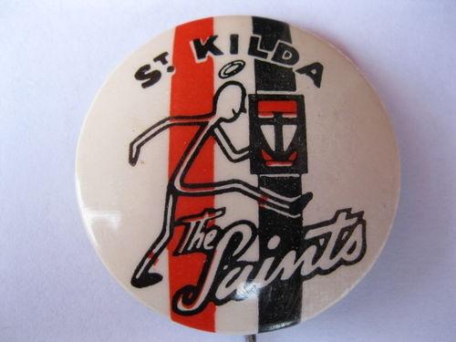 1963 FOOTBALL VFL MASCOT BADGE SERIES 1 ST.KILDA SAINTS RARE EXC