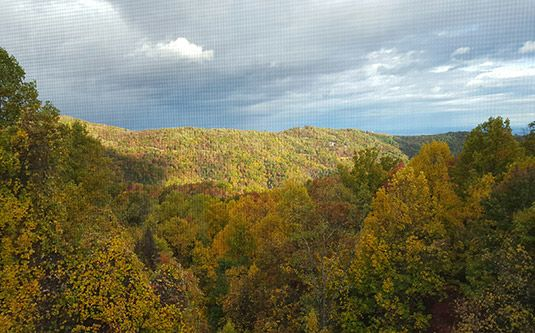 Ski View Mountain Resort #305 in Gatlinburg, Tennessee: Fall View of the Smoky Mountains