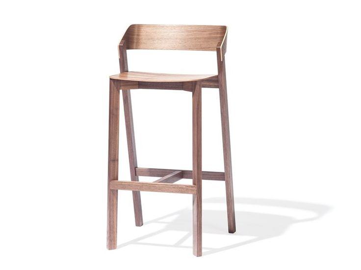 Silla alta de madera maciza con reposapiés MERANO Colección Design