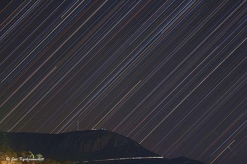 A Night with Raining Stars over Mt Wellington :)