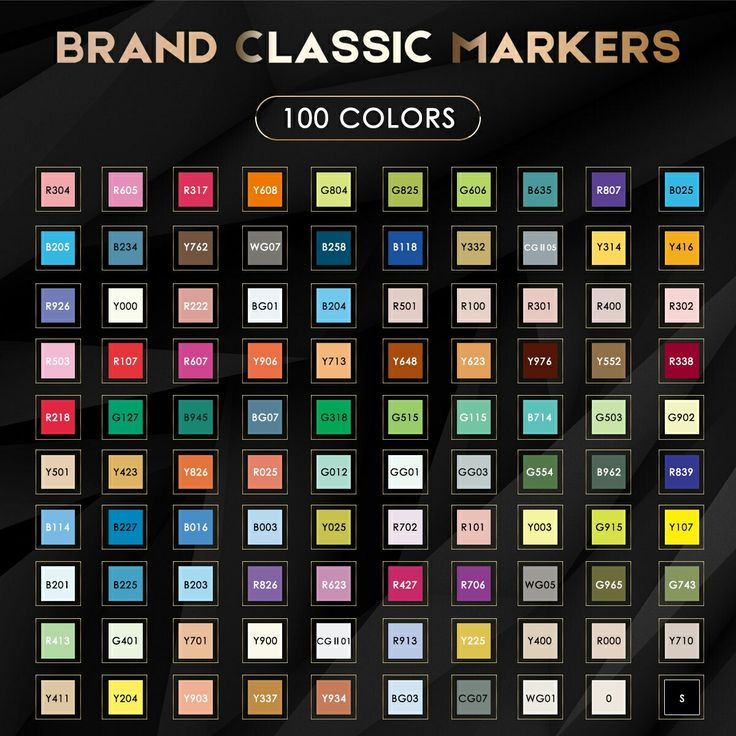 Caliart markers color chart in 2020 color chart markers