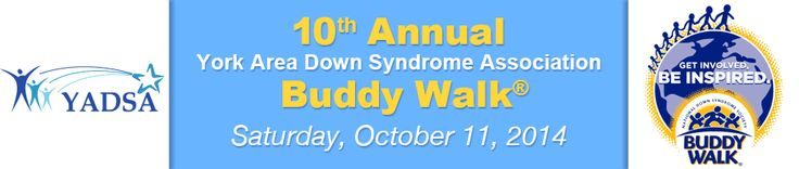 Say hello to the 10th annual York Area Down Syndrome Association Buddy Walk @yadsa in PA