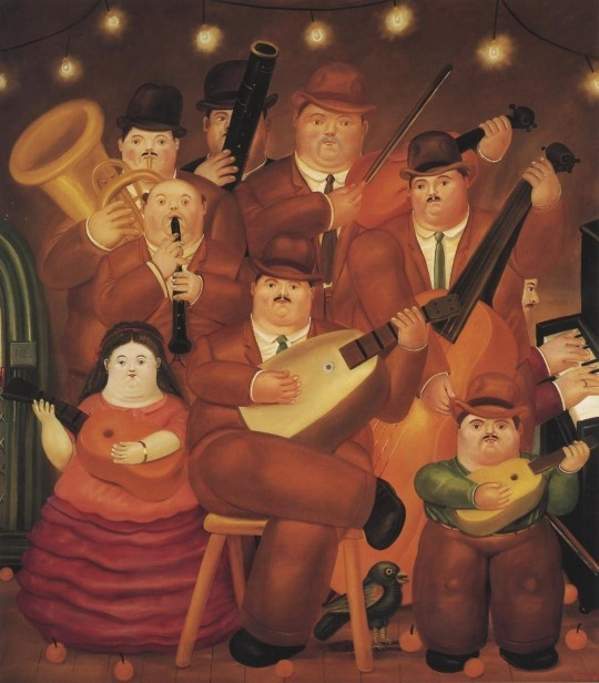 Fernando Botero, Danse en Colombie, 1980, Huile sur toile.