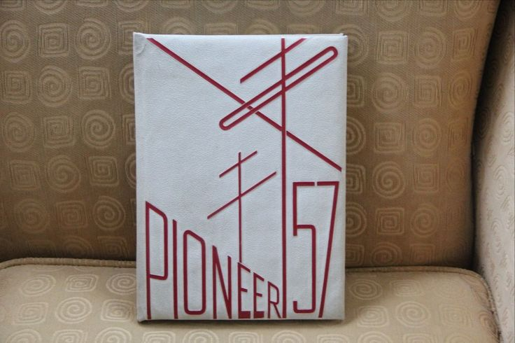 """Pompton Lakes New Jersey High School Yearbook Class of 1957 """"Pioneer"""""""