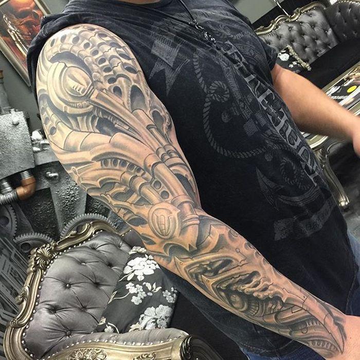 Mann tattoo arm motive 155 Upper