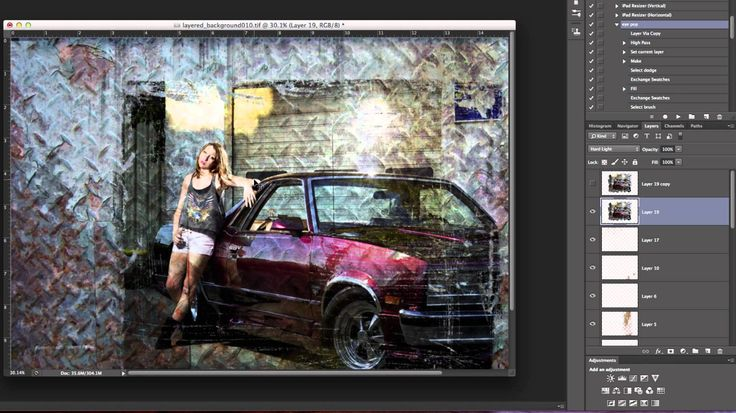 Photoshop tips and tricks.  Blending photos with edges into backgrounds.