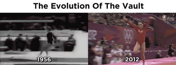 gaaahaha  The Evolution Of The Vault In One GIF