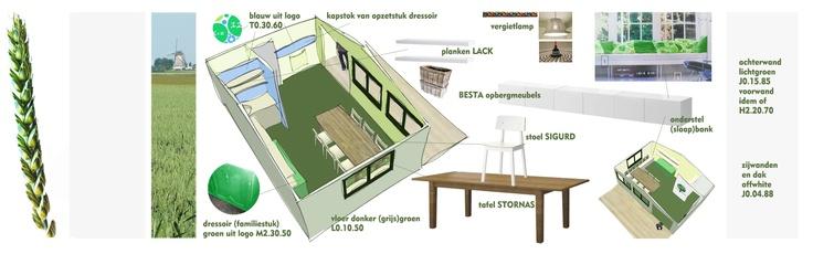 #collage Praktijkruimte Remedial Teacher #groen #kleurrijk . Interieurontwerp door Daphne van der Knijff-Looman van #VDKL