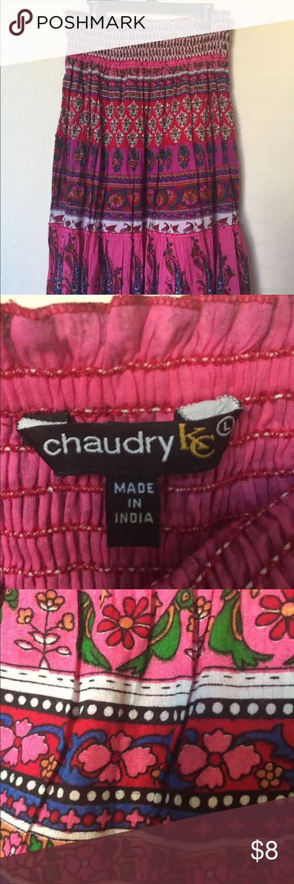 Chaudry KC Maxi Skirt Light cotton maxi skirt made in India! Adorable parrot details chaudry kc Skirts Maxi