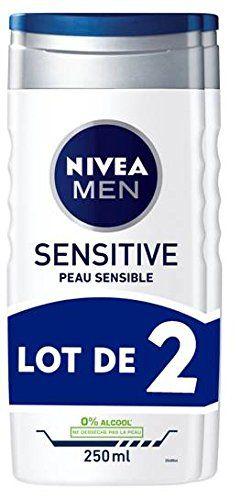Nivea Men Gel Douche Sensitive Peau Sensible 3en1: Pour les hommes qui ont la peau sensible et quiveulent une sensation de peau souple et…