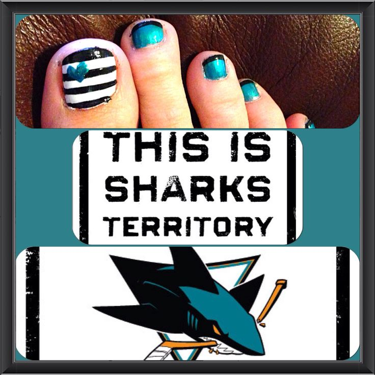 San Jose Sharks nails: Idea