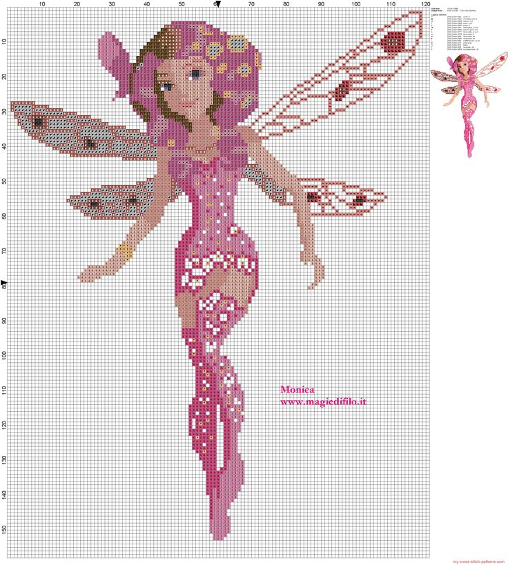 Mia the fairy (Mia and Me) cross stitch pattern
