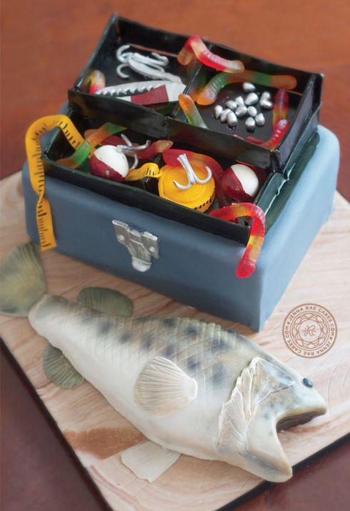 Fish and Tacklebox Cake | Jenna Rae Cakes