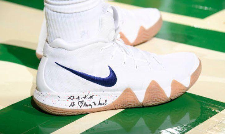 Celtics vs Heat Kyrie Irving in Nike Kyrie 4 #kyrie #kyrie4 #nike  #nikebasketball #nicekicks #kicks #kicksonfire #kickstagram #nbafinals  #playoffs #nba ...