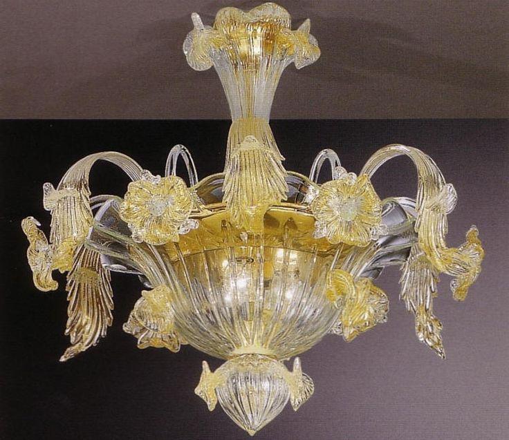 Plafoniere in vetro soffiato di GML